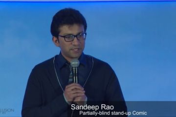 Stand-up comic Sandeep Rao at India Inclusion Summit 2013