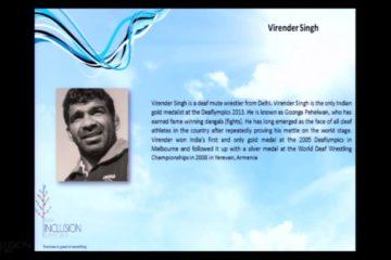 Goonga Pehelwan Virender Singh at IIS 2013
