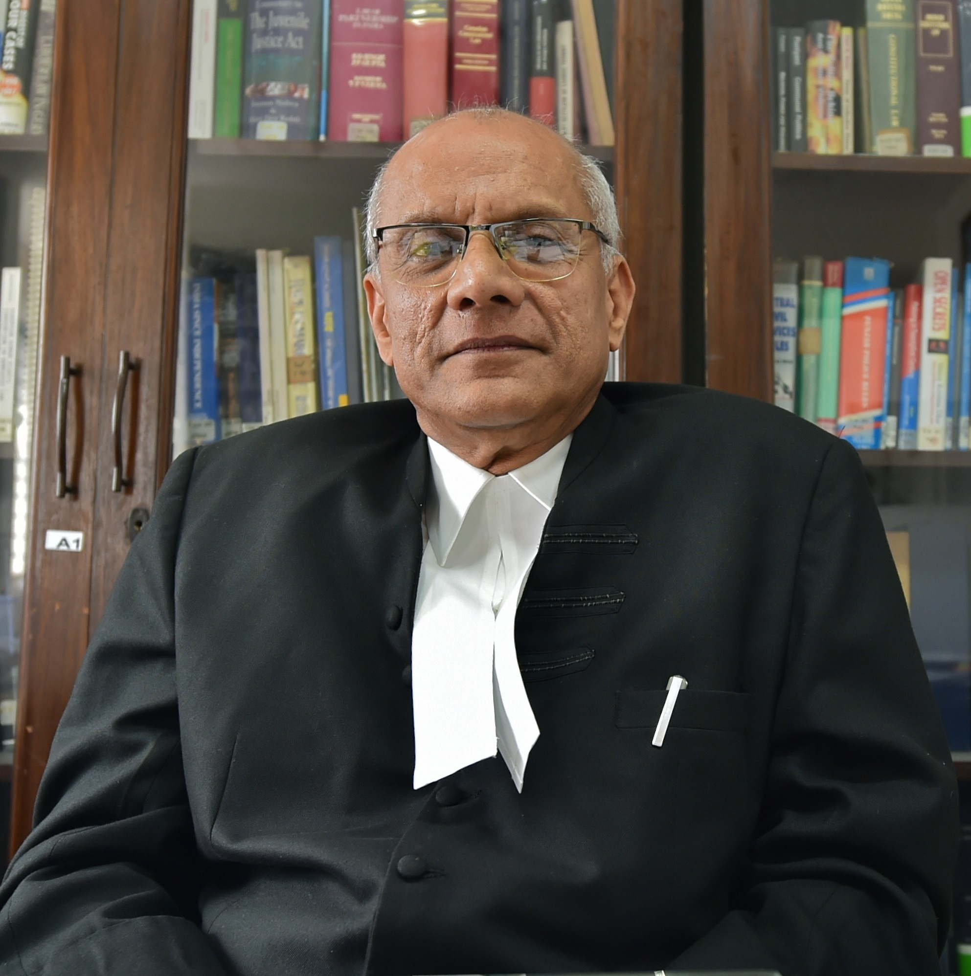 12/09/17New Delhi.Colin Gonsalves, senior advocate, Supreme Court of India in his office in Jungpura.Photo by Aayush Goel