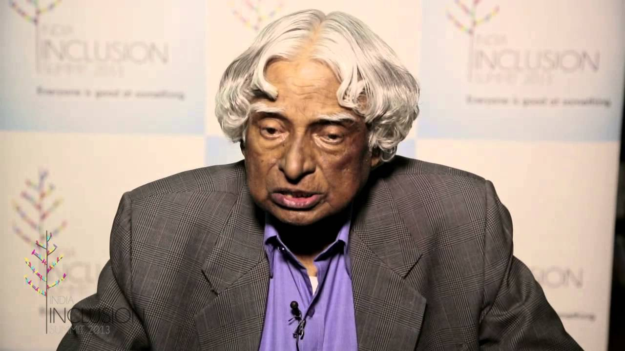 Dr Abdul kalam's opening address at India Inclusion Summit 2013