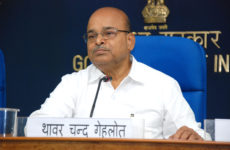 The Union Minister for Social Justice and Empowerment, Shri Thaawar Chand Gehlot addressing a press conference, in New Delhi on September 17, 2014.