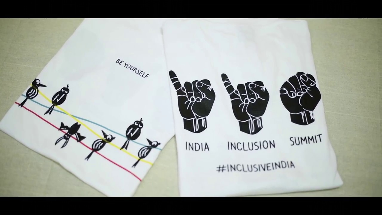 Inclusive T-shirt for India Inclusion Summit 2017