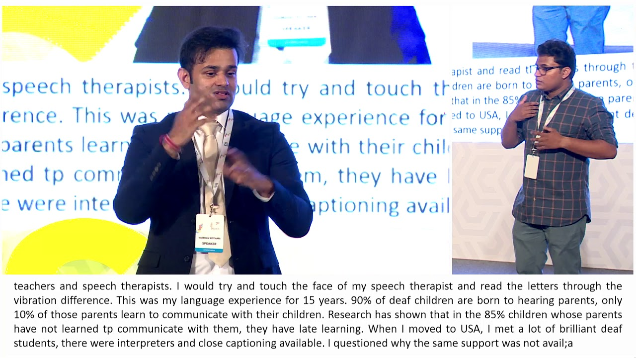 Vaibhav Kothari, My Journey And 'Deaf Gain'ing An Accessible India at IIS 2018