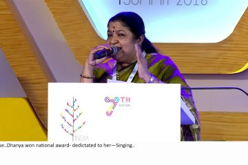 K S Chithra, Araluva Huvugale Song in Kannada at IIS 2018