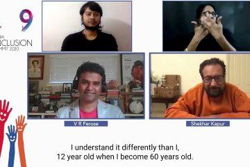 V R Ferose in conversation with Shekhar Kapur at IIS 2020